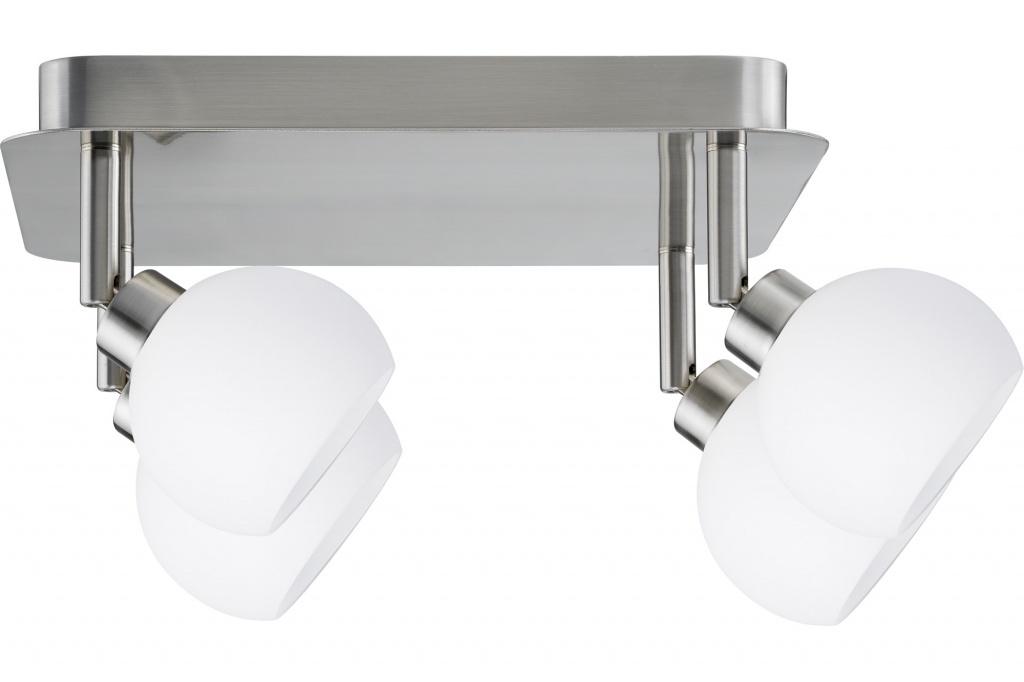 Потолочный светильник Spotlights Wolbi Rondell 4x40W GZ10 Eisen geb./Weib 230V Metall/Glas спот paulmann wolbi 60299