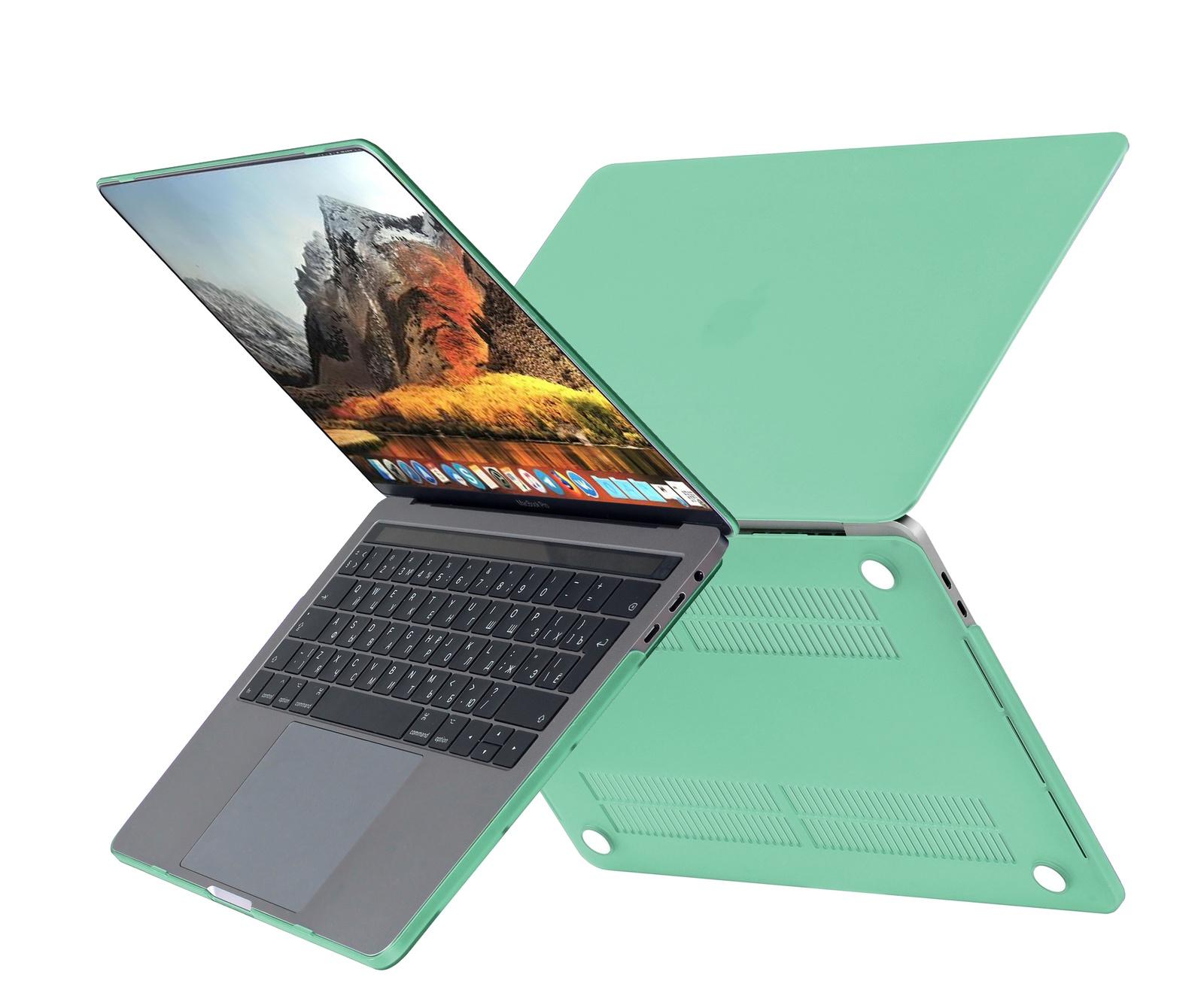 Чехол HardShell Case для Macbook Pro 15 Retina, светло зеленый цена и фото