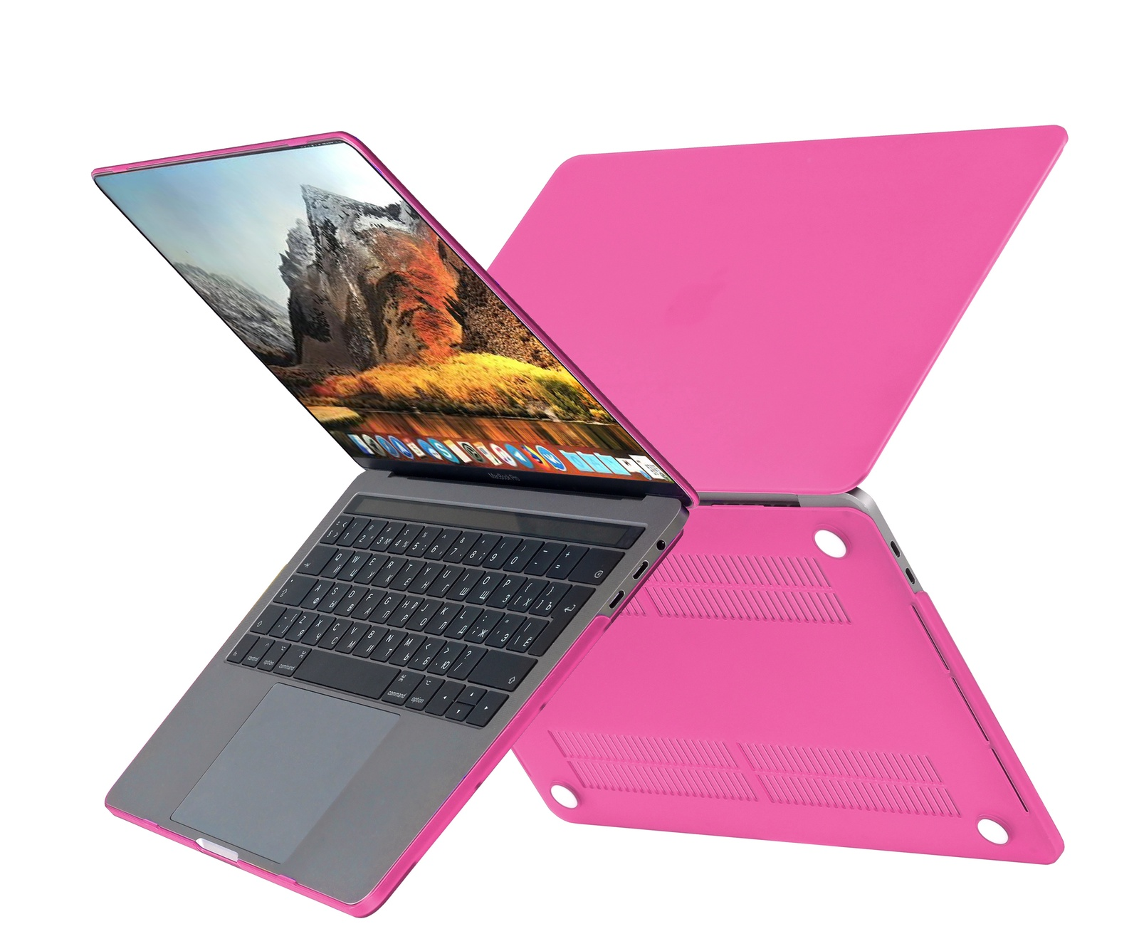 Чехол HardShell Case для Macbook Pro 13 Retina, фуксия цена