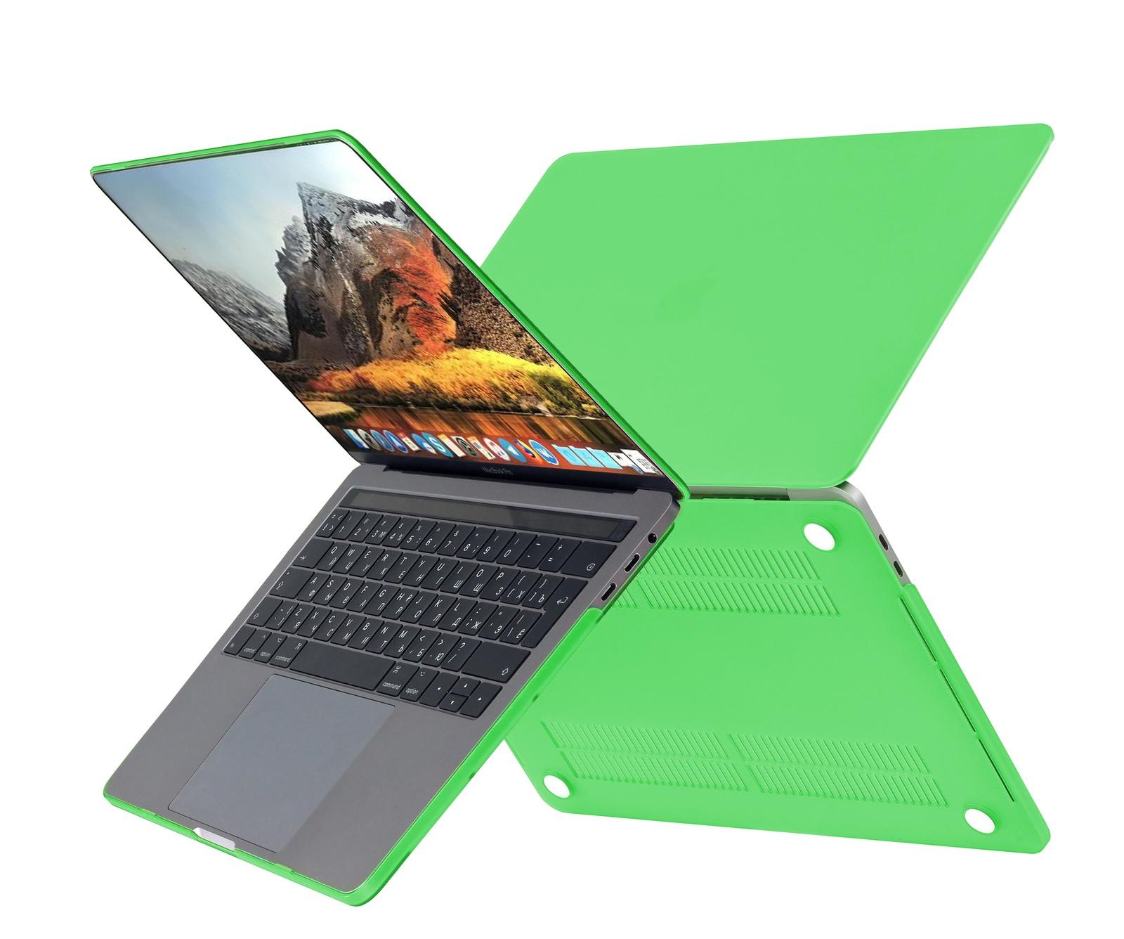 цена на Чехол HardShell Case для Macbook Pro 13 New, зеленый
