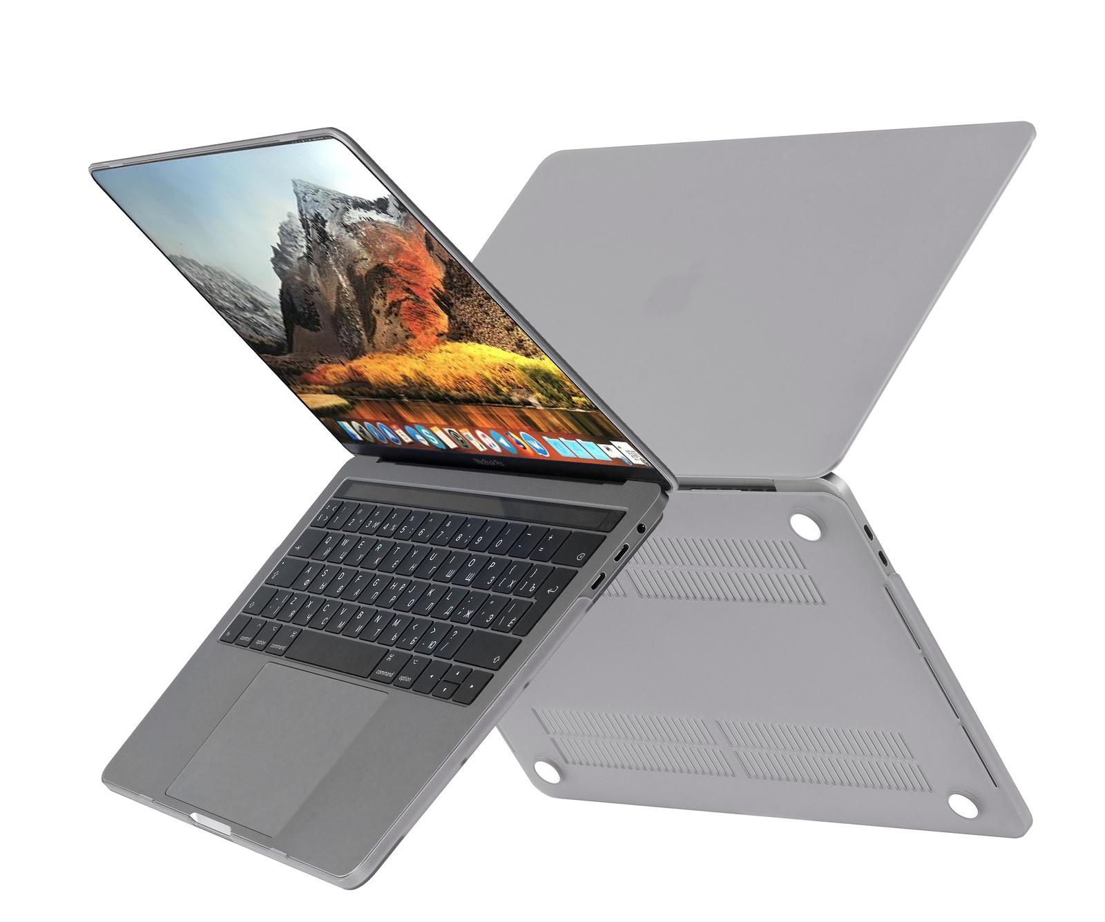 Чехол HardShell Case для Macbook Air 13, светло серый office для macbook air