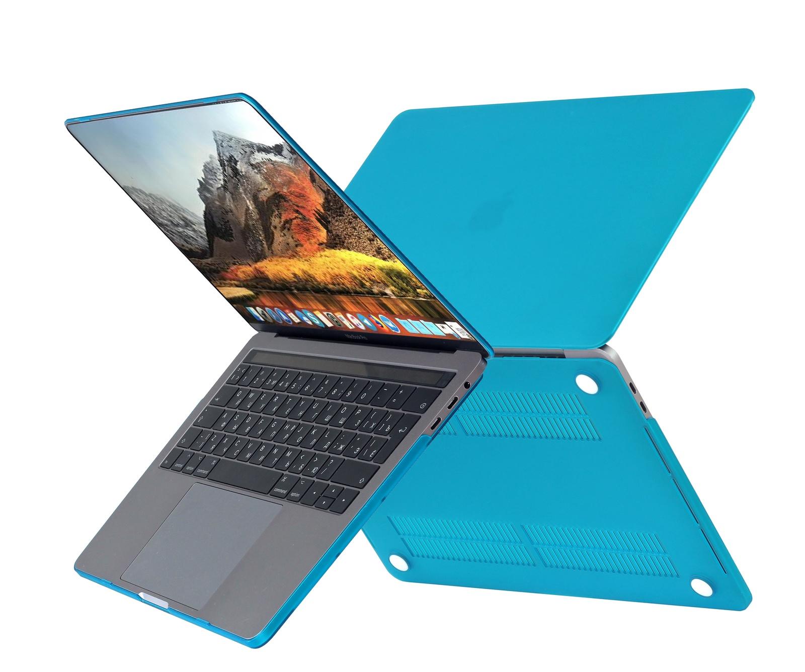 Чехол HardShell Case для Macbook 12, голубой