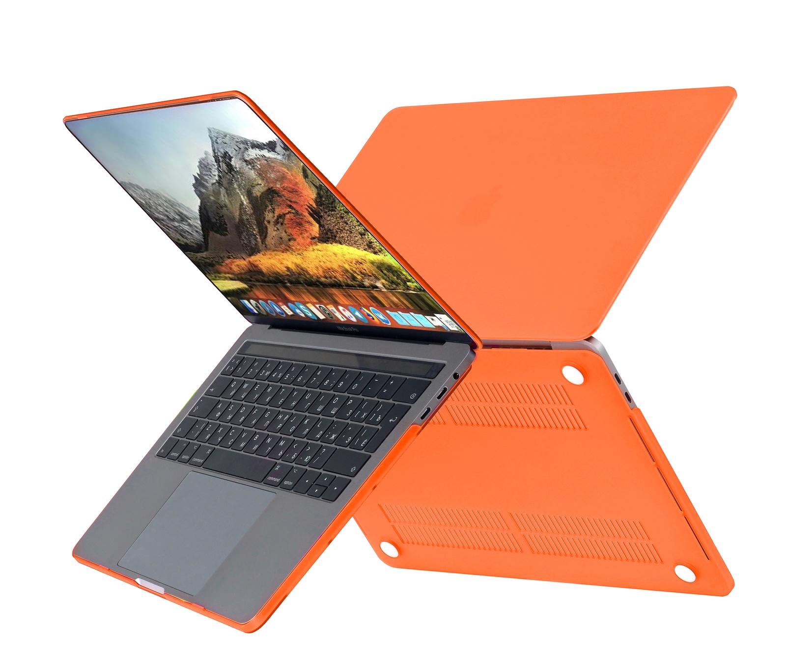 Чехол HardShell Case для Macbook 12, оранжевый