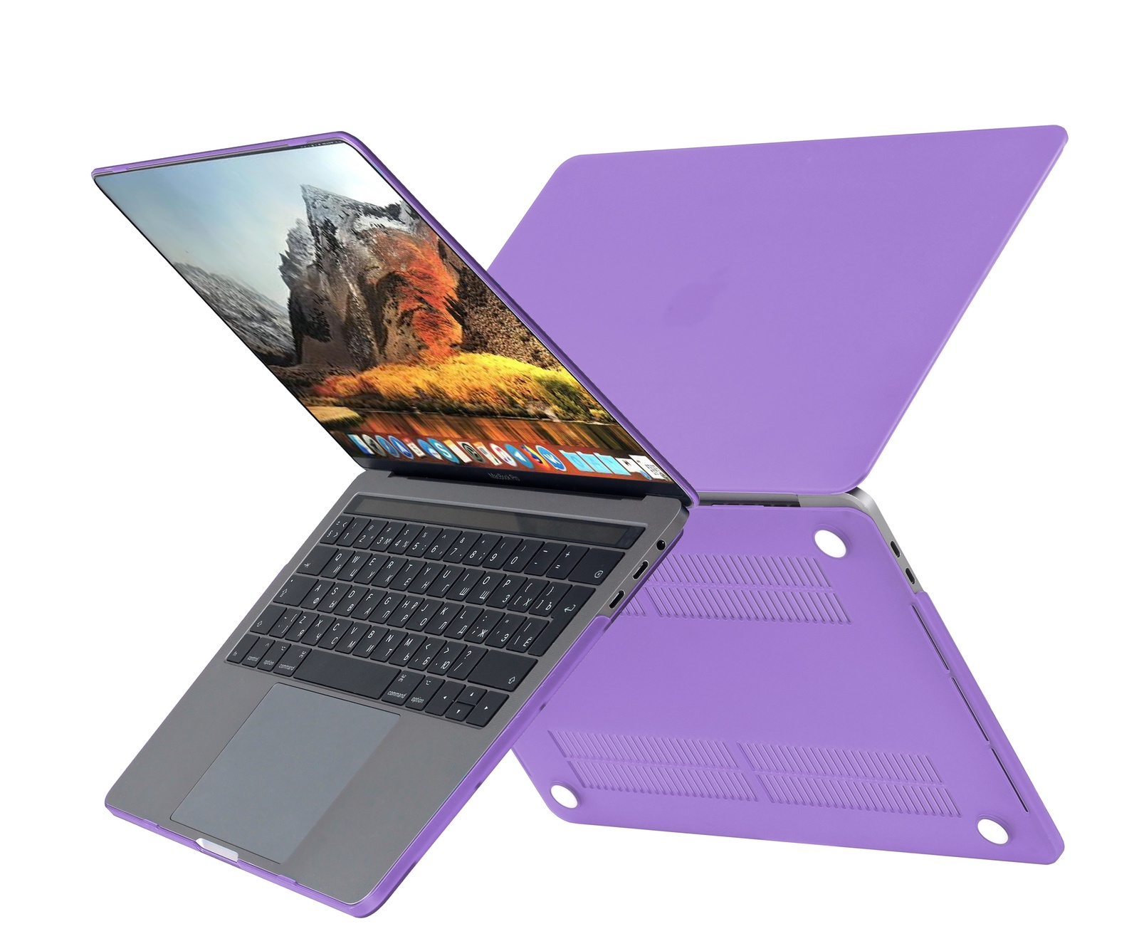 Чехол HardShell Case для Macbook 12, фиолетовый