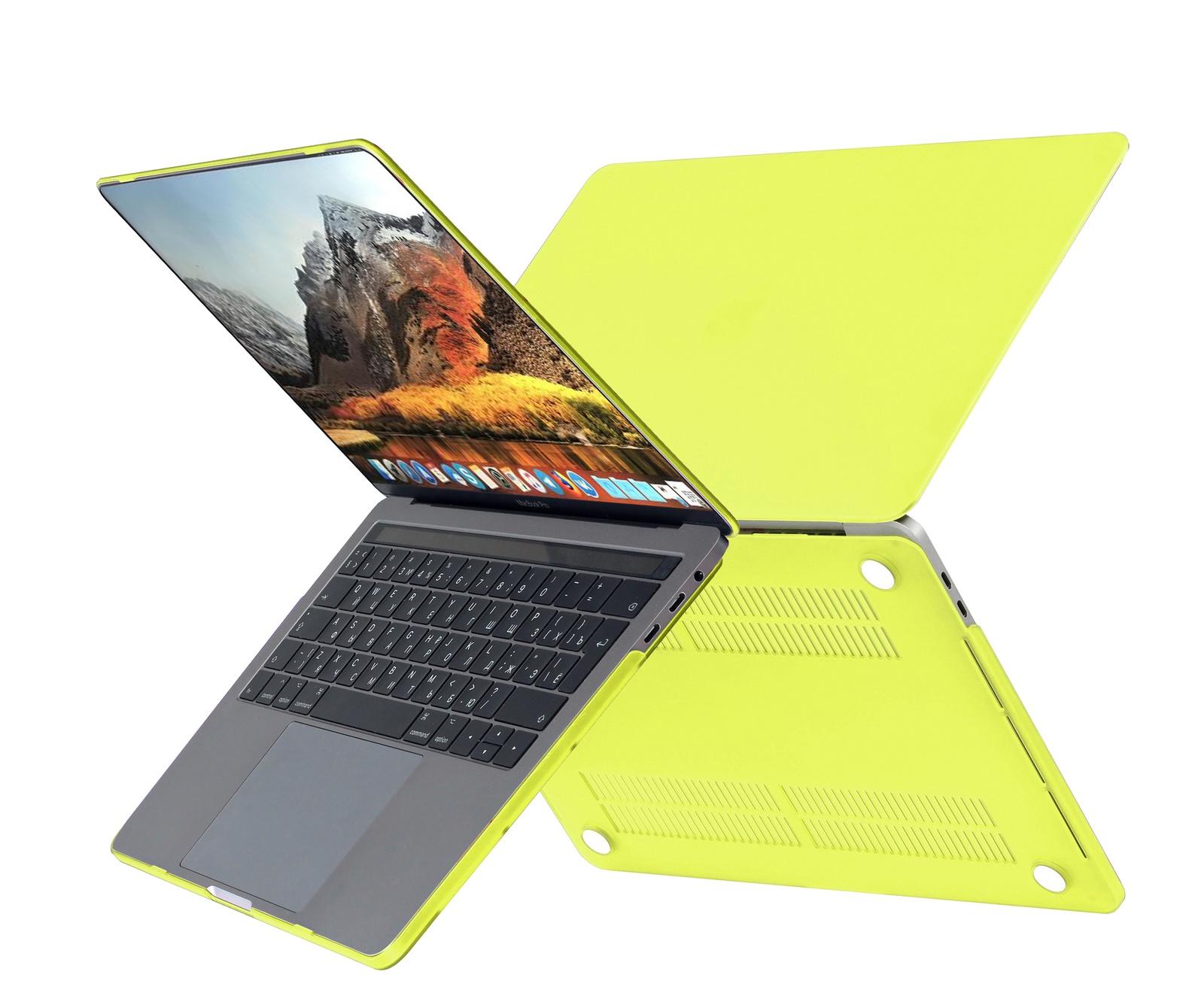 цена на Чехол HardShell Case для Macbook Pro 15 Retina, желтый