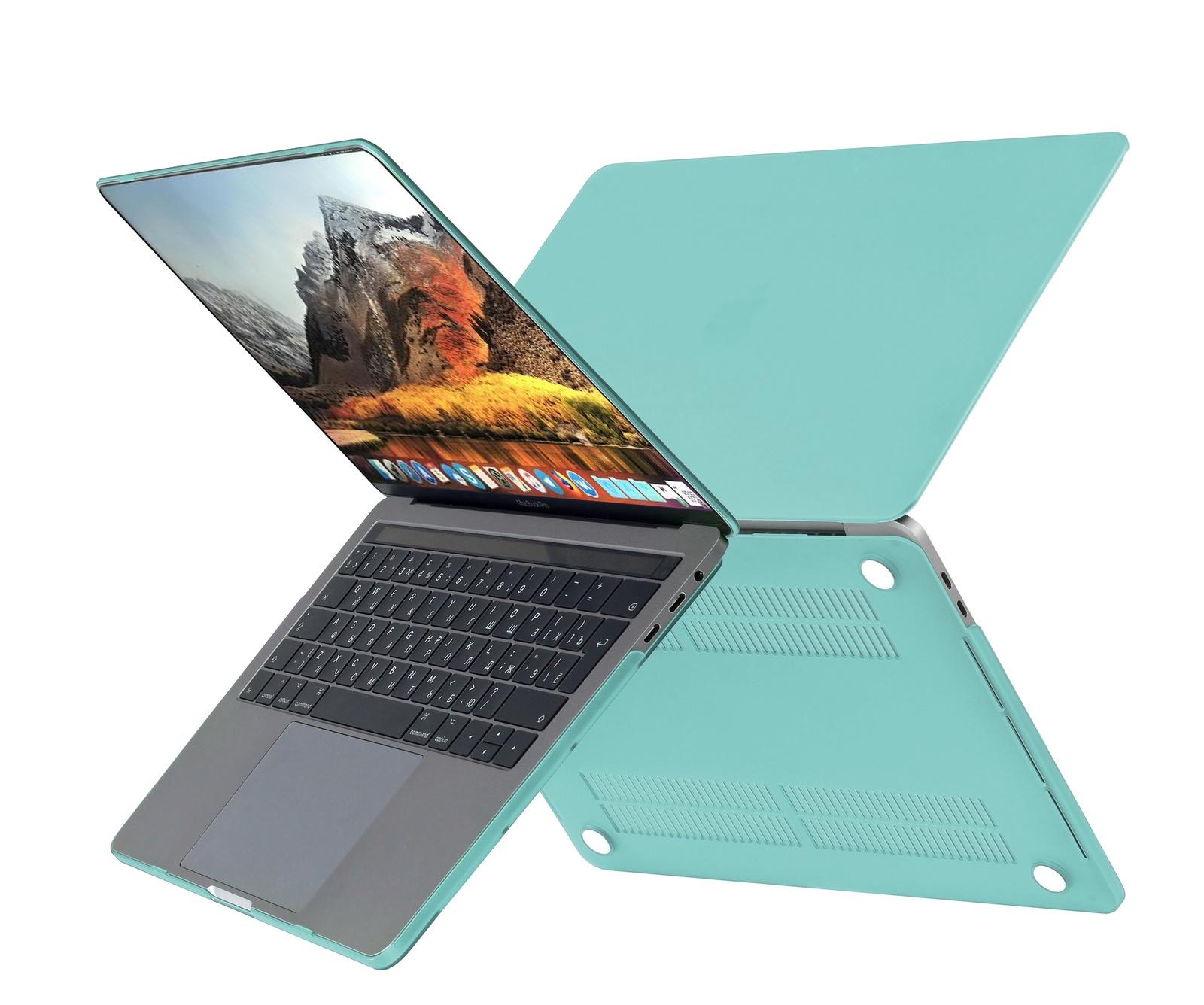 Чехол HardShell Case для Macbook Pro 13 Retina, бирюзовый