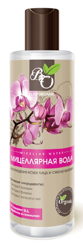 Фото - Мицеллярная вода для очищения кожи лица и снятия макияжа Bliss organic, 200 мл белита мицеллярная вода для снятия макияжа и тонизирования кожи belita young 200 мл