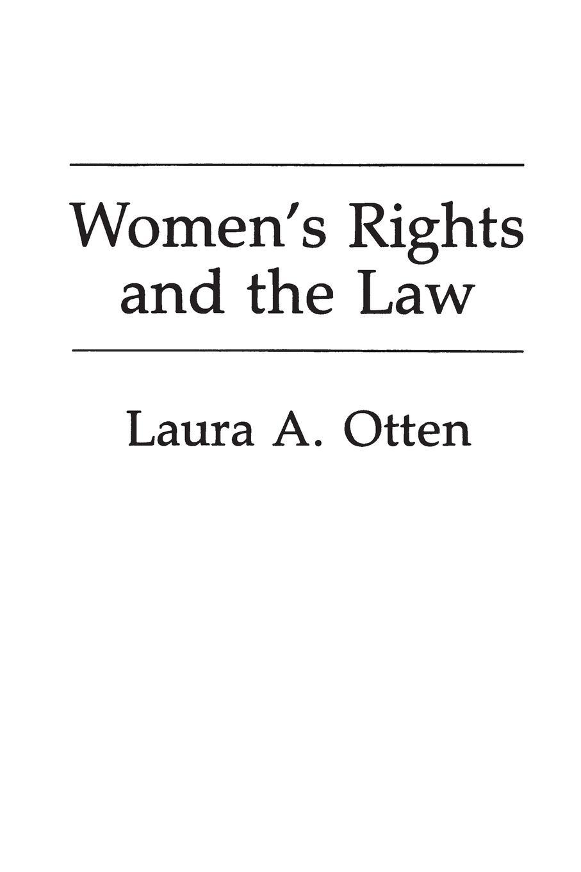 где купить Laura Otten Women's Rights and the Law по лучшей цене