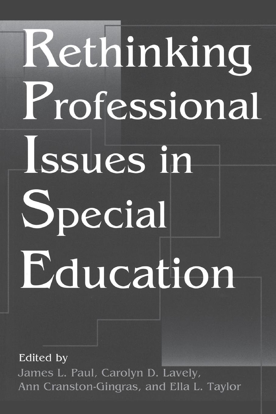 Rethinking Professional Issues in Special Education roland m schulz rethinking science education philosophical perspectives