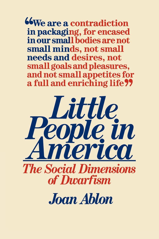 Joan Ablon, Unknown Little People in America unknown little scenes for little folks