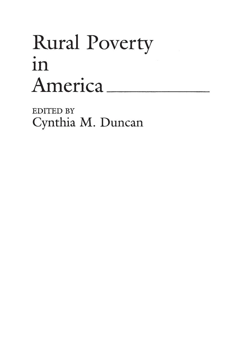 Cynthia Duncan Rural Poverty in America persistence of poverty in rural ghana