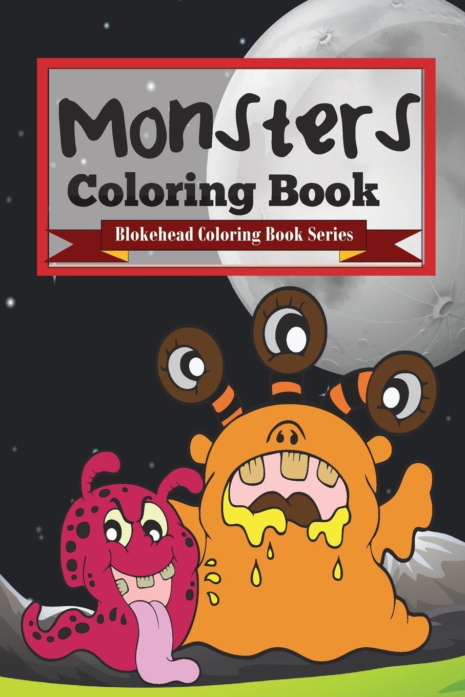 The Blokehead Monsters Coloring Book sandra staines wobbly monsters coloring book