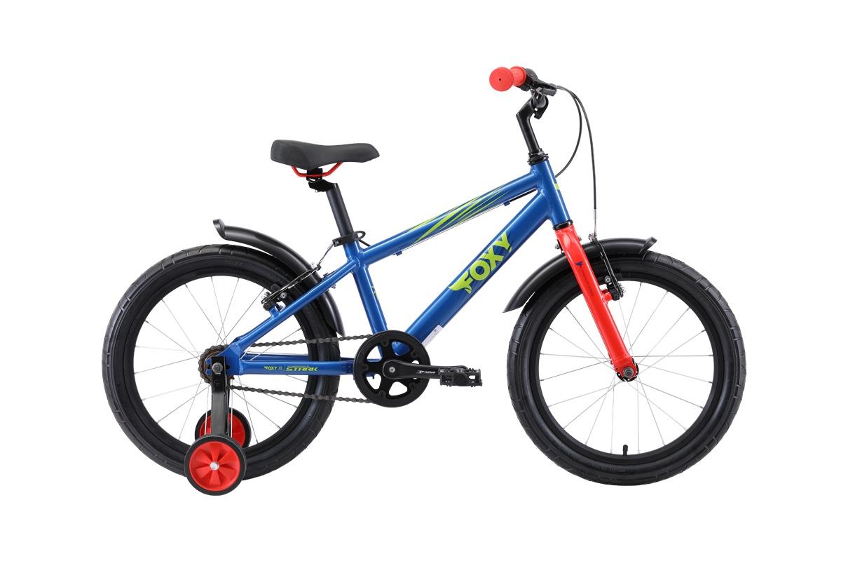 Велосипед STARK Foxy 18 2019 one синий/зелёный/красный велосипед stark madness bmx 3 2017