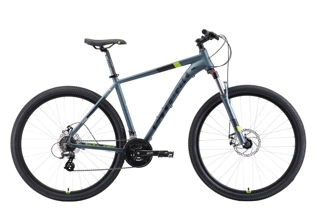 Велосипед STARK Router 29.3 D 2019 22 серый/чёрный/зелёный