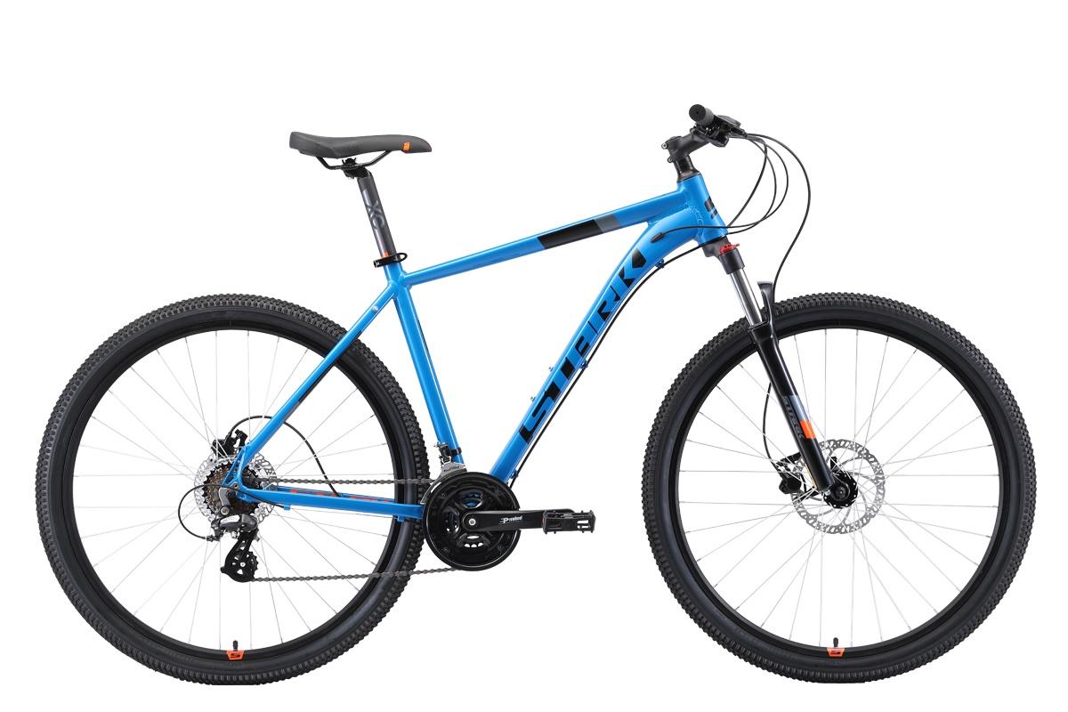 Велосипед STARK Router 29.3 HD 2019 18 голубой/чёрный/оранжевый
