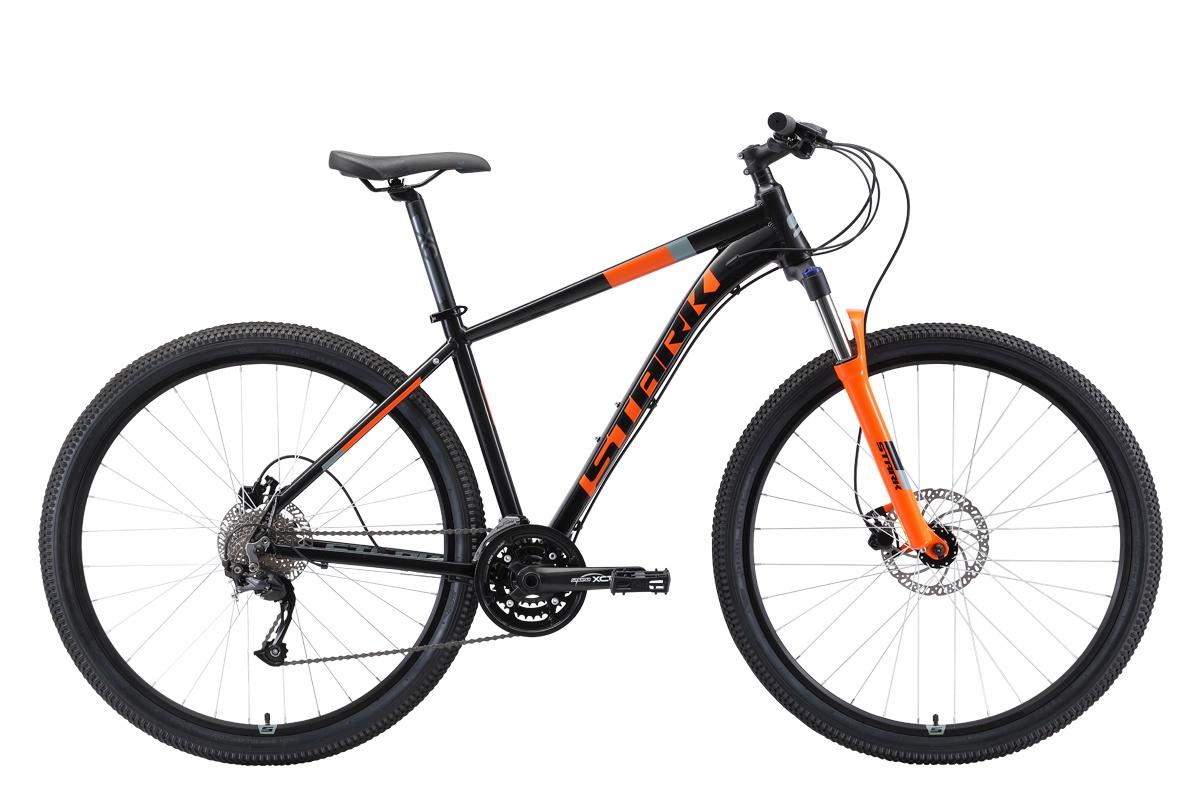 Велосипед STARK Router 29.4 HD 2019 22 чёрный/оранжевый/серый