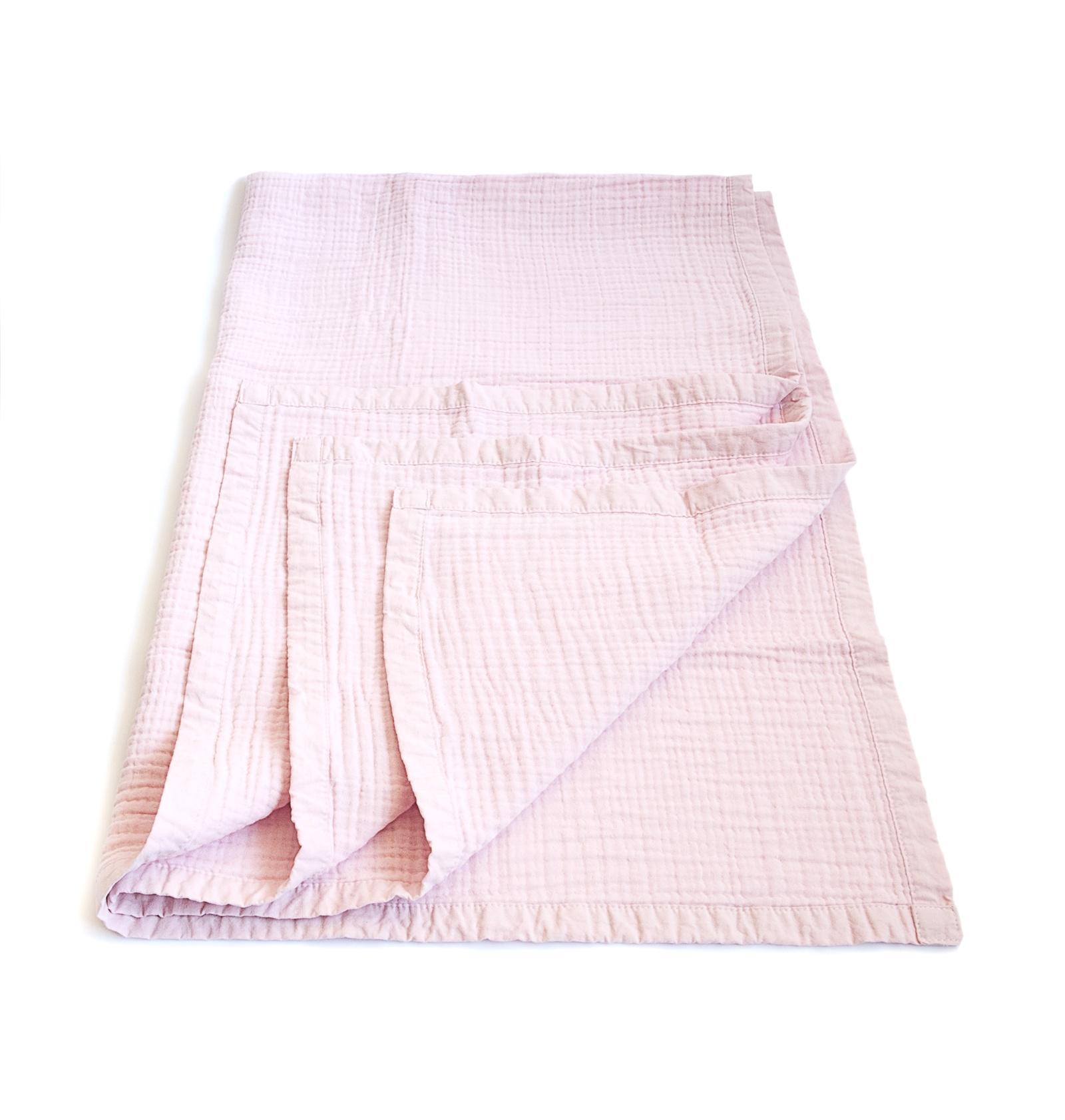 Муслиновое одеяло MamSi 8 слоев 120х90см розовый