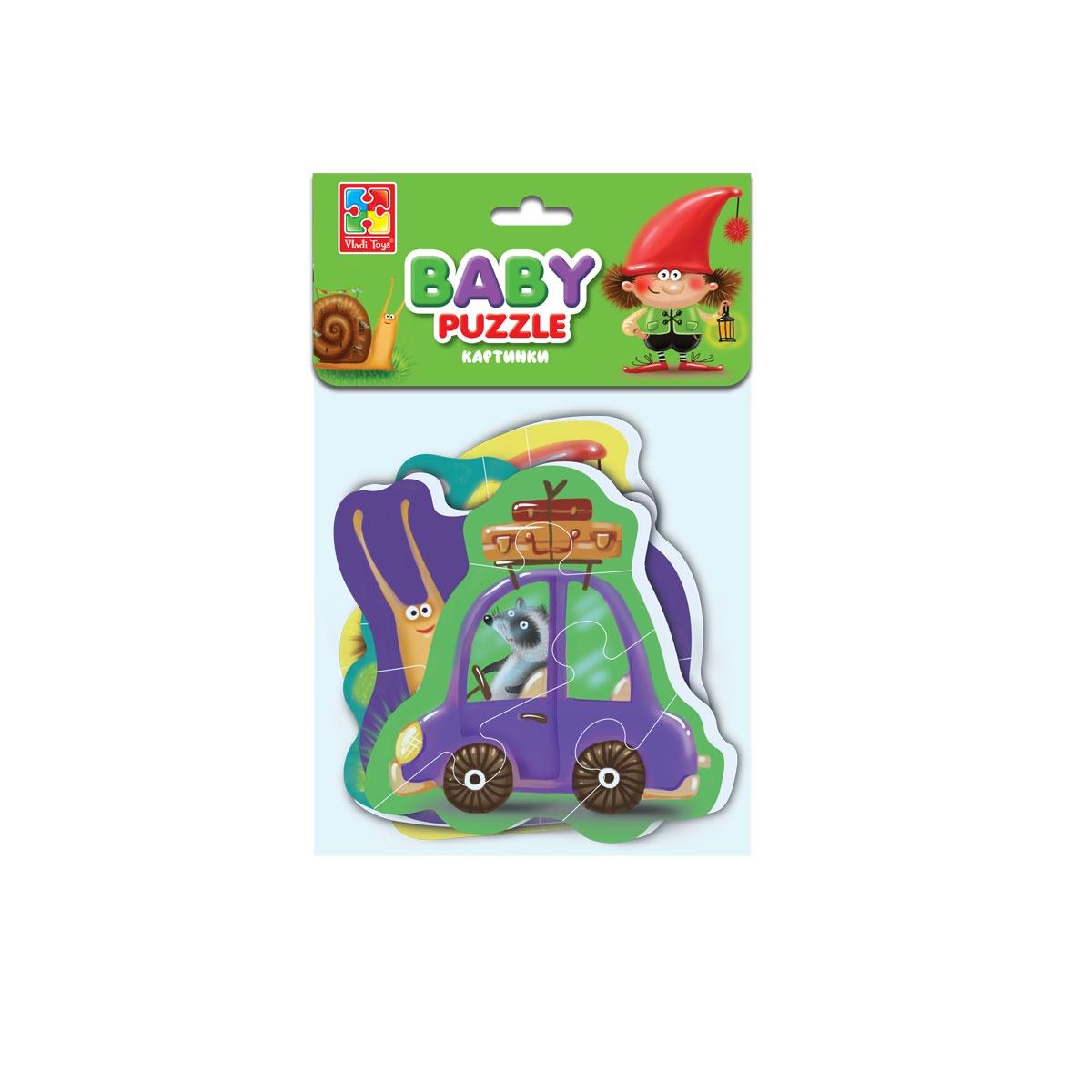 Мягкие пазлы Baby puzzle Картинки baby toys макси пазлы baby toys зигзаг домашние животные 18 элементов