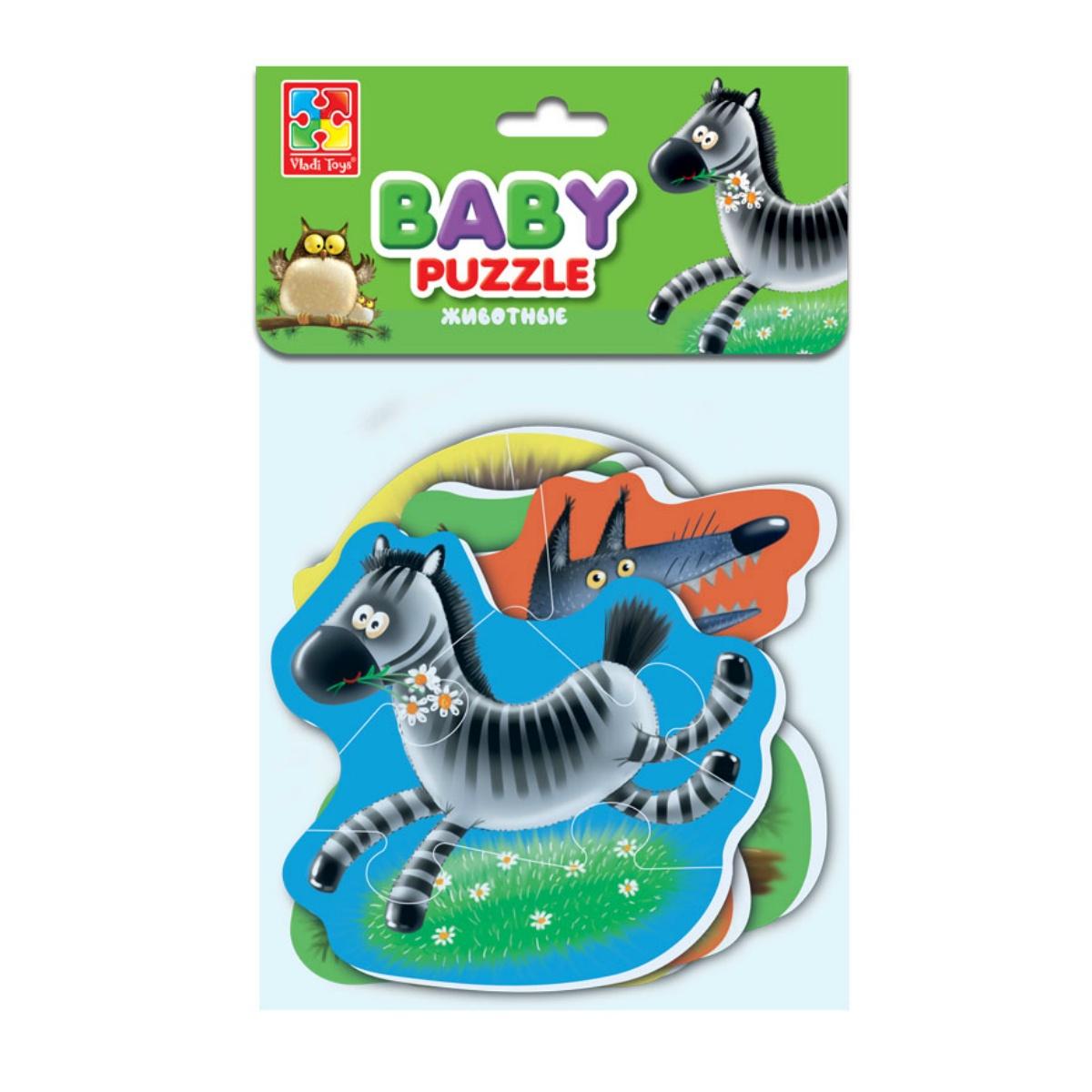 Мягкие пазлы Baby puzzle Животные baby toys макси пазлы baby toys зигзаг домашние животные 18 элементов