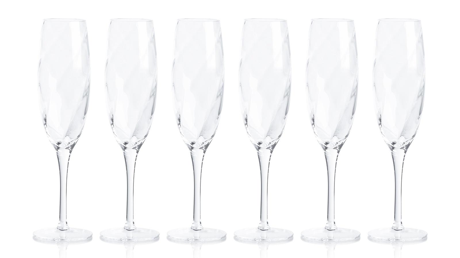 Набор Krosno из 6 фужеров для шампанского Романтика 170мл графин krosno