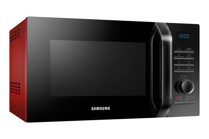 цена на Микроволновая печь Samsung MG-23H3115QR, черный, красный