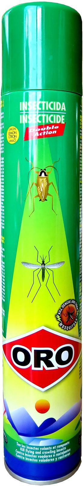 Средство ORO, двойного действия, от летающих и ползающих насекомых, с ароматом лимона, аэрозоль, 400 мл рейд аэрозоль мгновенного действия против летающих ползающих насекомых 300мл лаванда