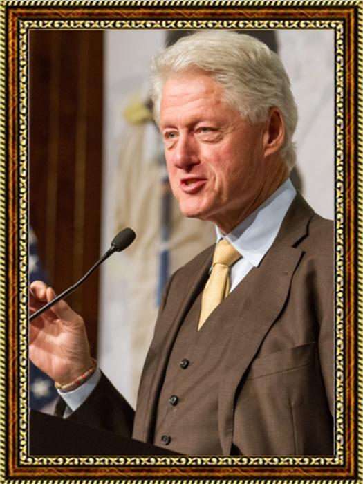 Портрет президента США Билла Клинтона