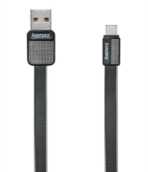 Фото - Кабель USB - USB Type-C 1м Remax RC-044a - Черный автодержатель remax rc fc1 с кабелем type c black