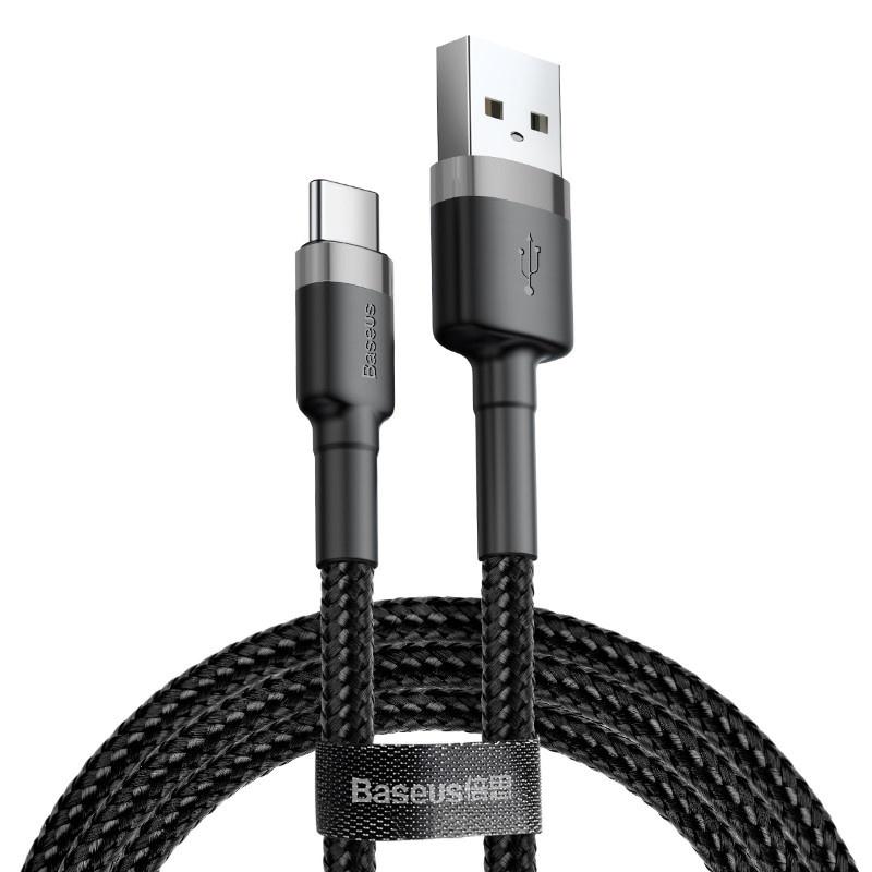 Кабель USB - Type-C 1м Baseus Cafule Series Черный (CATKLF-BG1)
