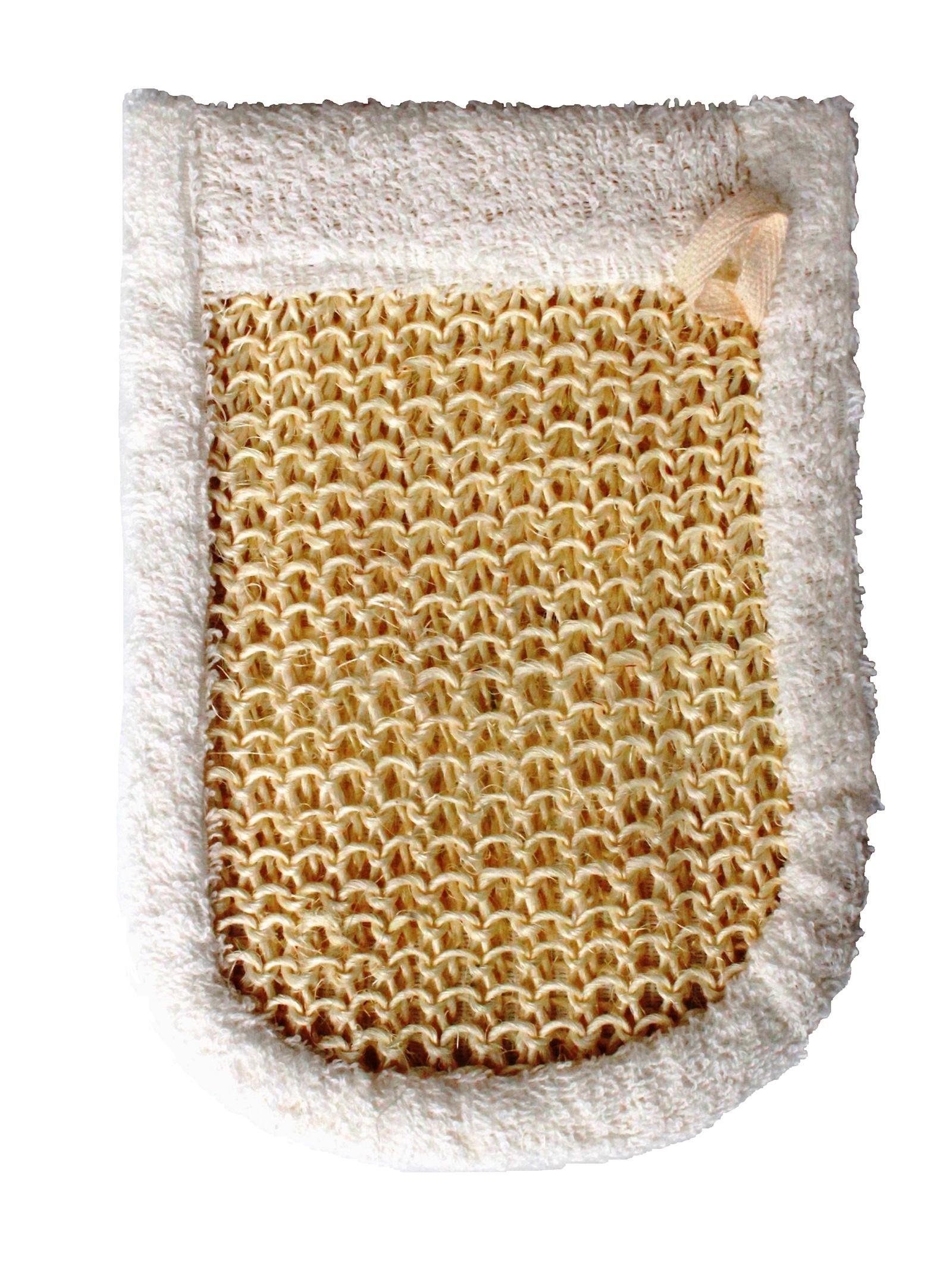 Мочалка-рукавица для тела мочалка для тела жесткая зеленая cure nylon towel regular green