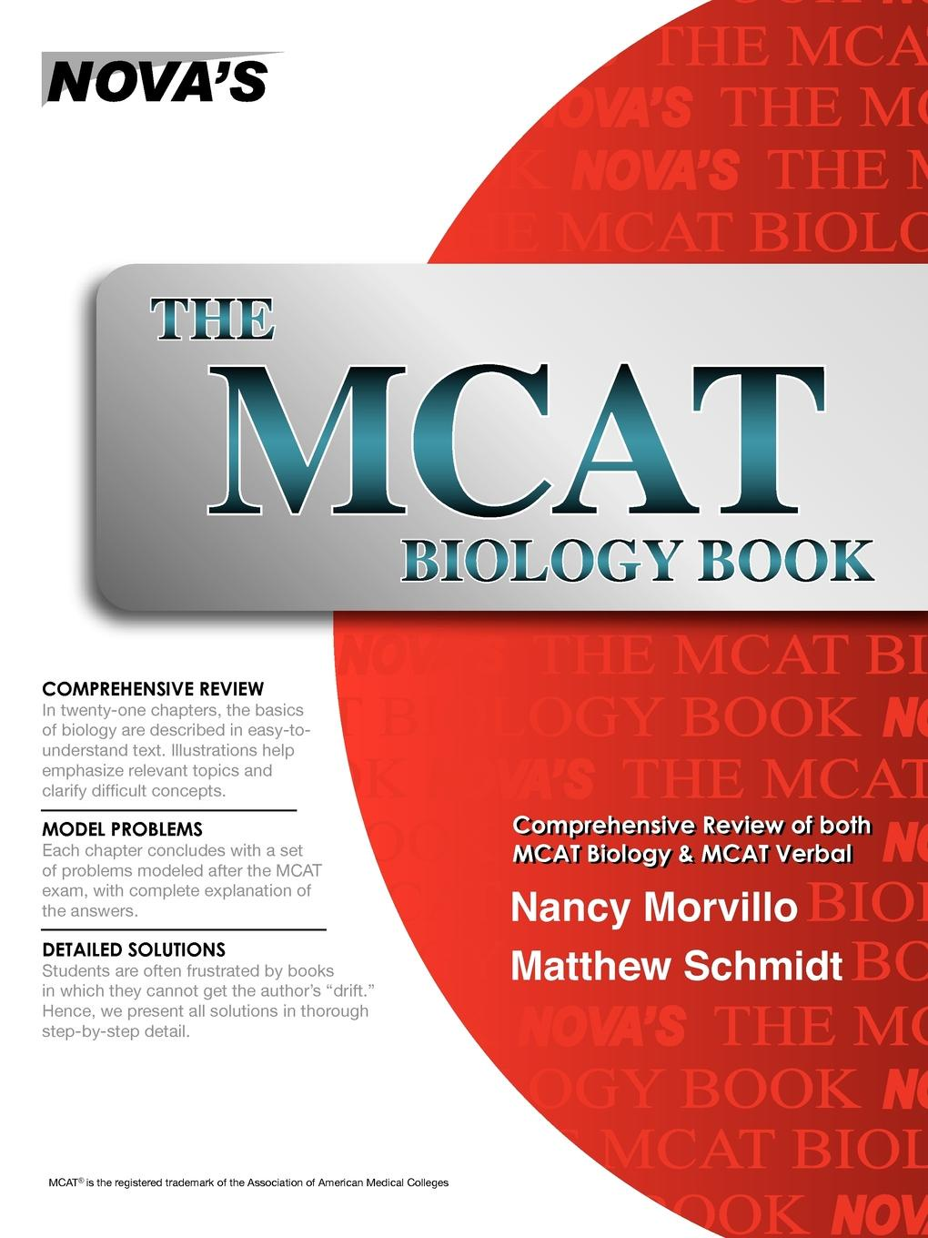 Nancy Morvillo, Matthew Schmidt The MCAT Biology Book mcat critical analysis and reasoning skills review for mcat 2015