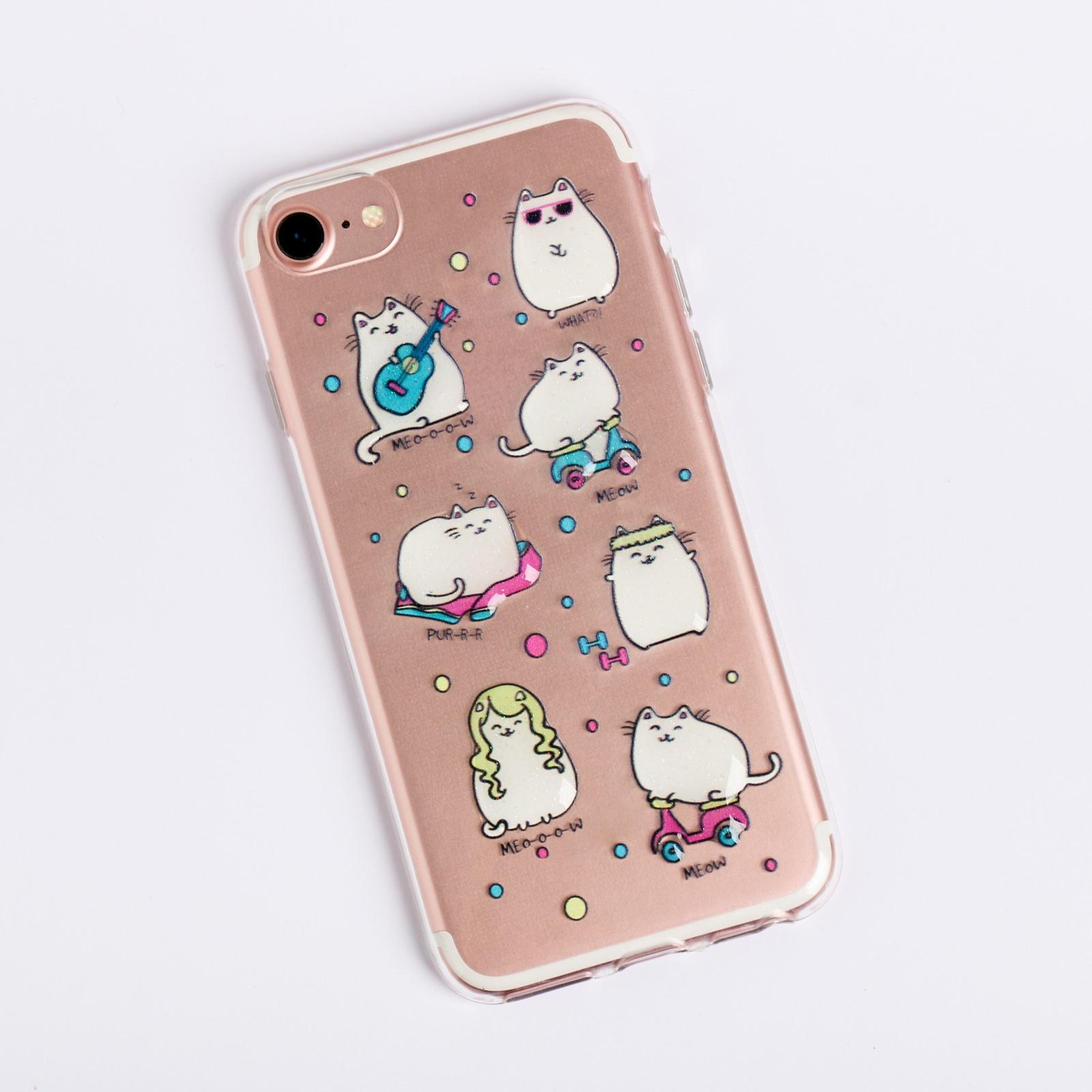 Чехол для телефона iPhone 7 с эпоксидными элементами Котики