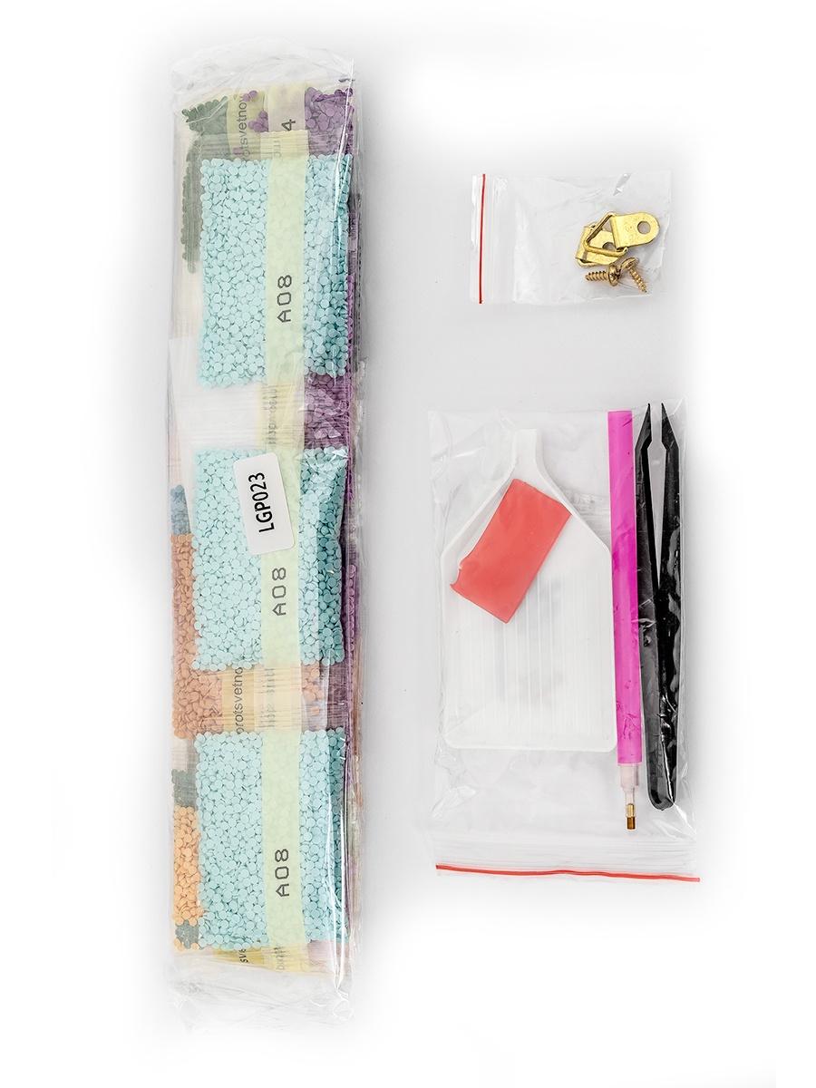 Набор для создания картины со стразами Цветной Святая Матрона Московская, 40 х 50 см.  2000000039008, LGP023 6