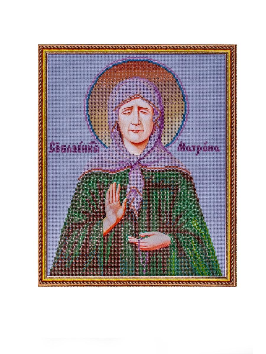Набор для создания картины со стразами Цветной Святая Матрона Московская, 40 х 50 см.  2000000039008, LGP023