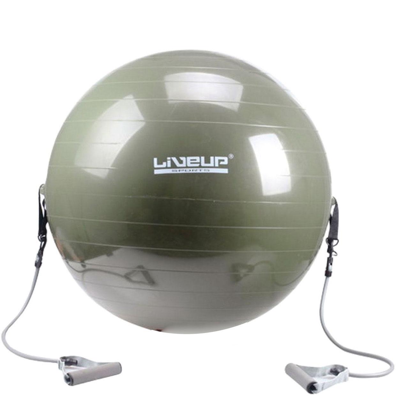 Фитбол и эспандер LiveUp GYM BALL WITH EXPANDER