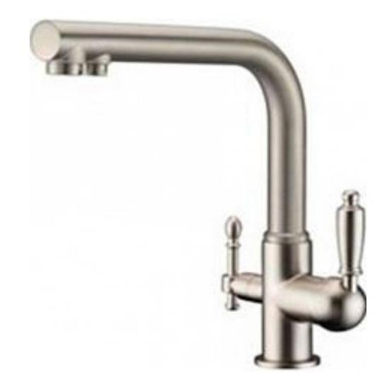 Смеситель для кухни под фильтр ZorG Sanitary ZR 313 YF-33 NICKEL цена