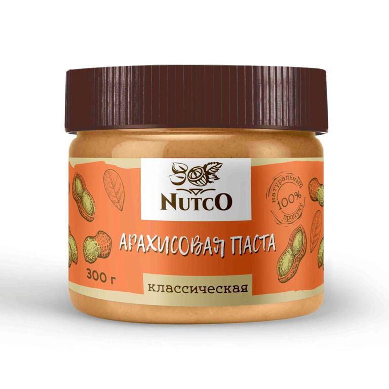 Арахисовая паста NUTCO Классическая 300 гр. паста dopdrops арахис морская соль стевия 265 г