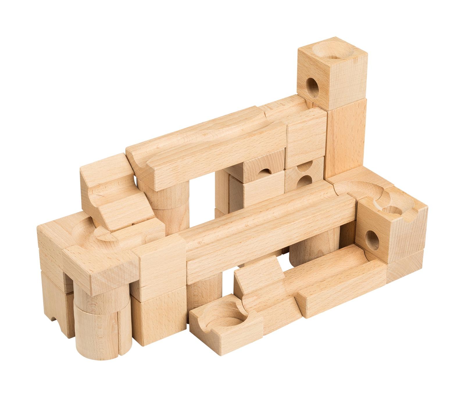 """Конструктор игровой """"Шарики-кубарики"""" для самых маленьких, для детей от 3-х лет, 38 шт"""