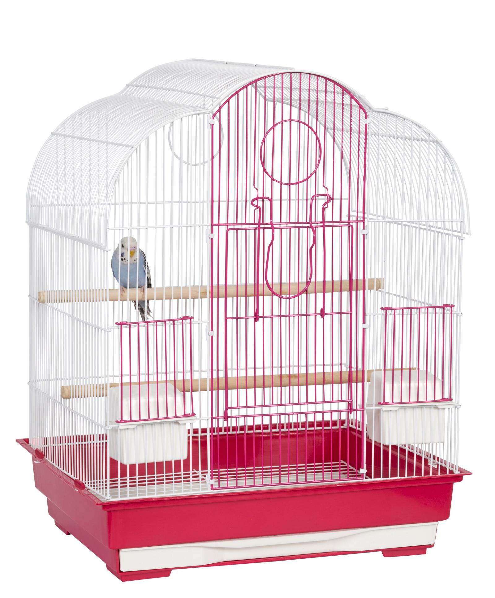 """клетка для маленьких птиц sky liberta """"virginia"""", 46х36х58см, розовый/белый (великобритания)"""