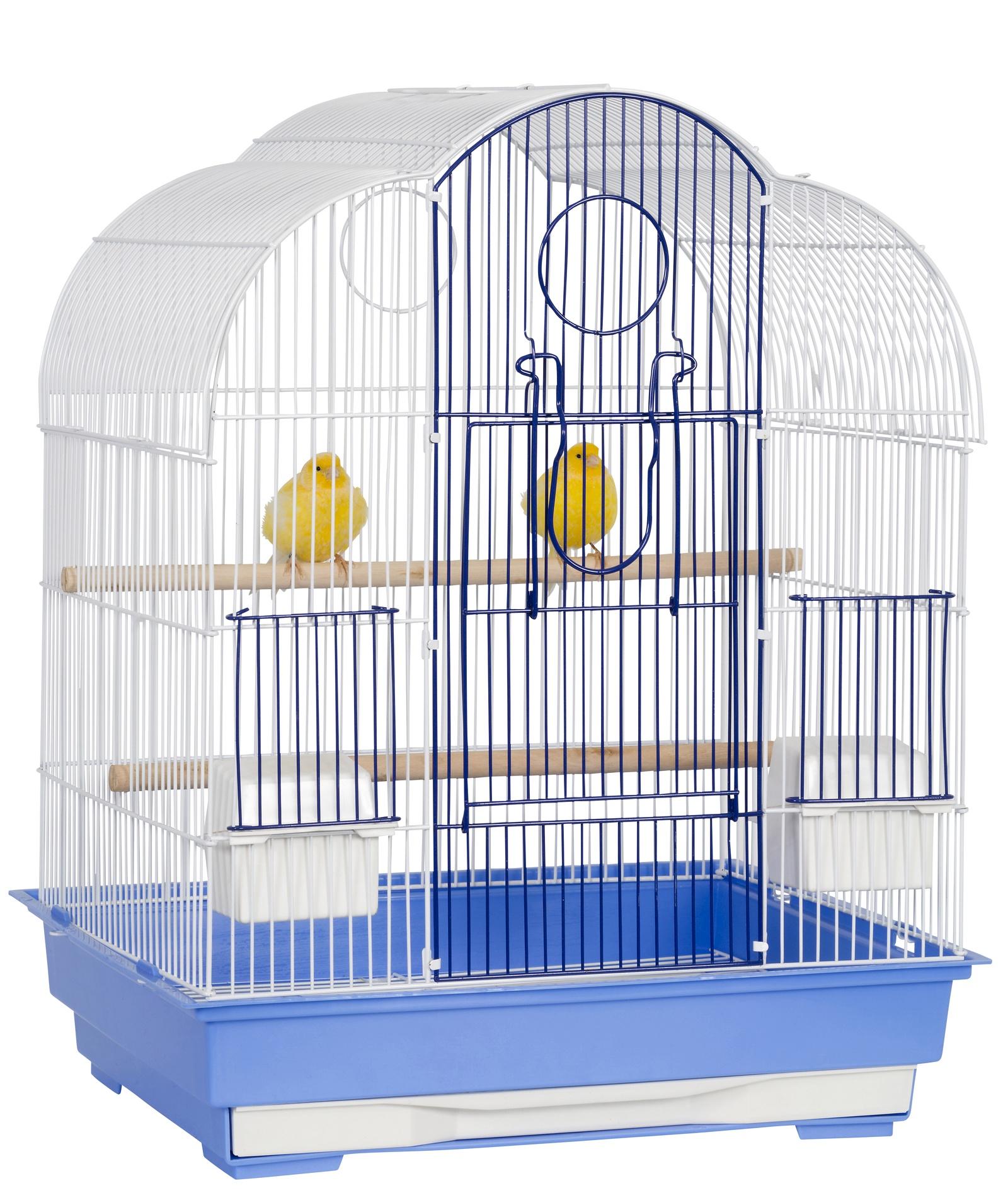 """клетка для мелких птиц sky liberta """"california"""", 46х36х58 см, голубой/белый (великобритания)"""