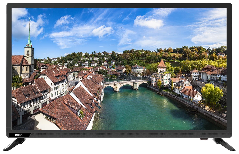 """Телевизор ECON LED FULL HD, 22"""", с встроенным спутниковым и цифровым тюнером 22"""", черный"""