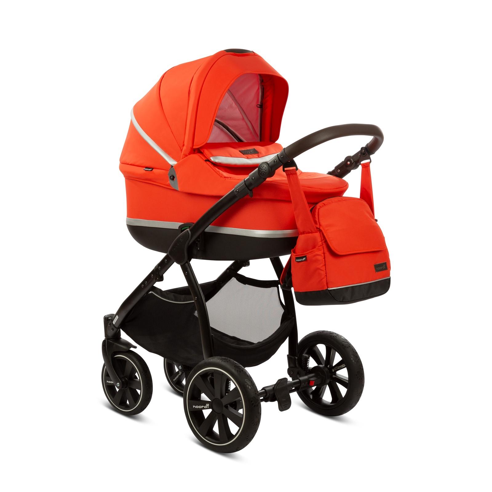 Коляска 2 в 1 NOORDI Sole Sport Orange Red 825 коляска rudis solo 2 в 1 графит красный принт gl000401681 492579