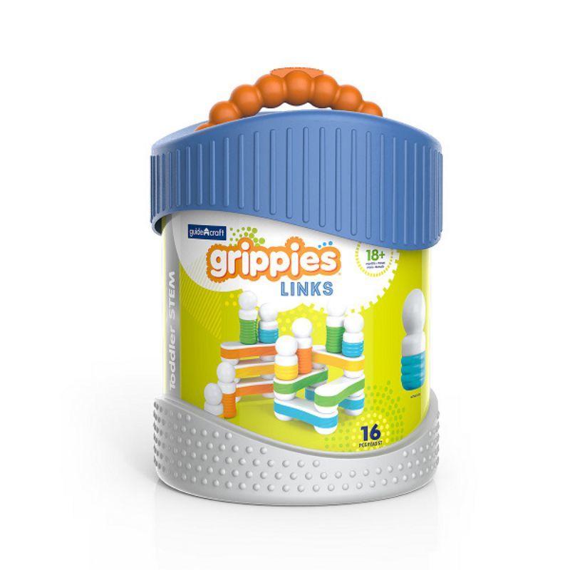 Конструктор магнитный для малышей Guide Craft Better Builders Grippies Links 16 деталей