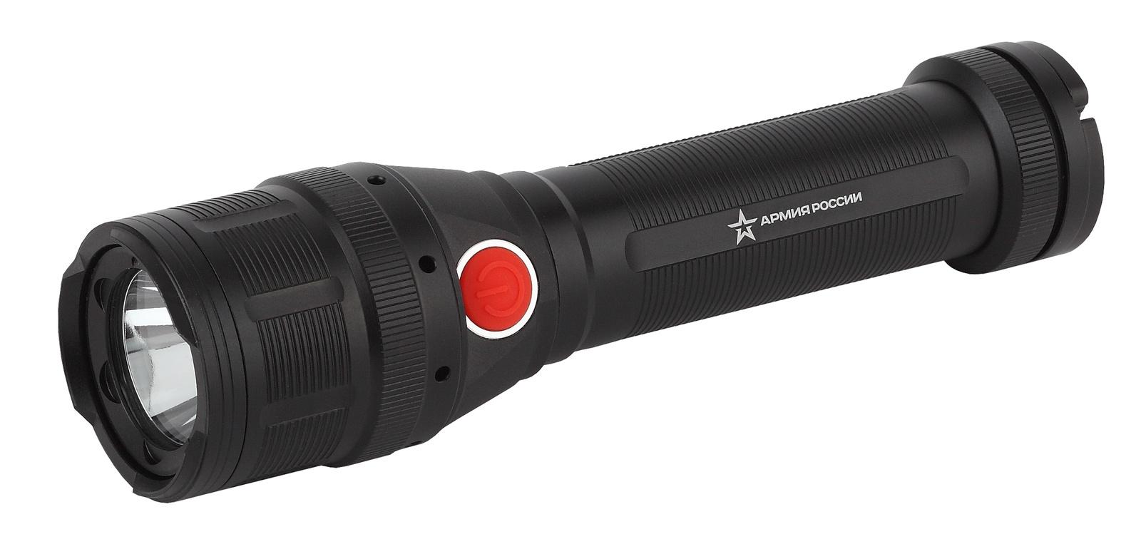 Светодиодный фонарь ЭРА MB-902 АРМИЯ РОССИИ Буря, 5Вт LED+COB, 3 режима, черный фонарь ручной армия россии mb 603 чёрный