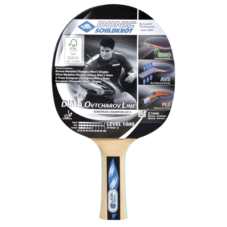 Ракетка для настольного тенниса DONIC OVTCHAROV 1000 ракетка для настольного тенниса donic testra pro