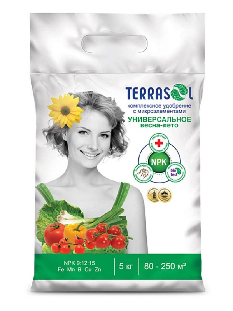 Удобрение сухое Террасол минеральное Весна-Лето тукосмесь с микроэлементами 5 кг цена