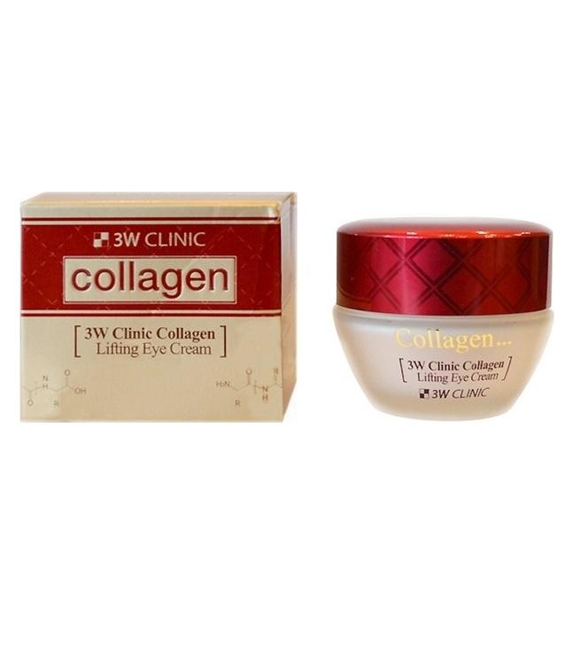 Крем для век с коллагеном 3W CLINIC Collagen Lifting Eye Cream 35 мл сыворотка для век антивозрастной с плацентой 3w clinic premium placenta brightening day eye serum 50 мл