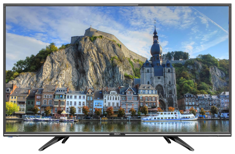 """Телевизор ECON LED HD READY, 24"""", с встроенным спутниковым и цифровым тюнером 24"""", черный"""