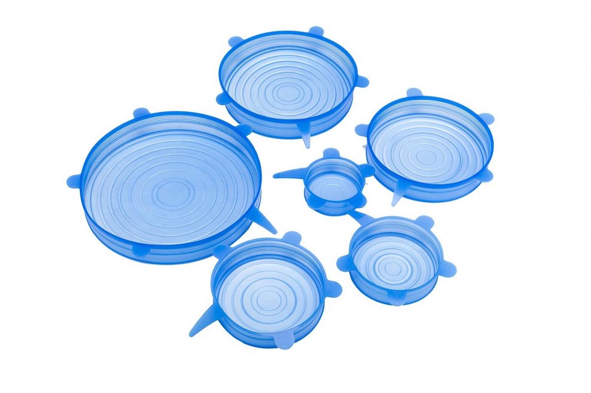 Силиконовые растягивающиеся крышки для посуды