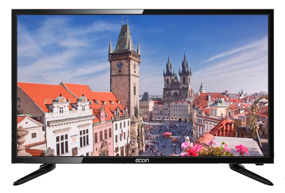 Телевизор ECON LED HD READY, 32, с встроенным цифровым тюнером DVB-T2 черный